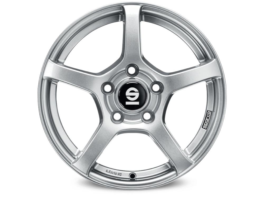 Sparco 5X100 6.5X16 ET38 63.4 RTT_Full Silver