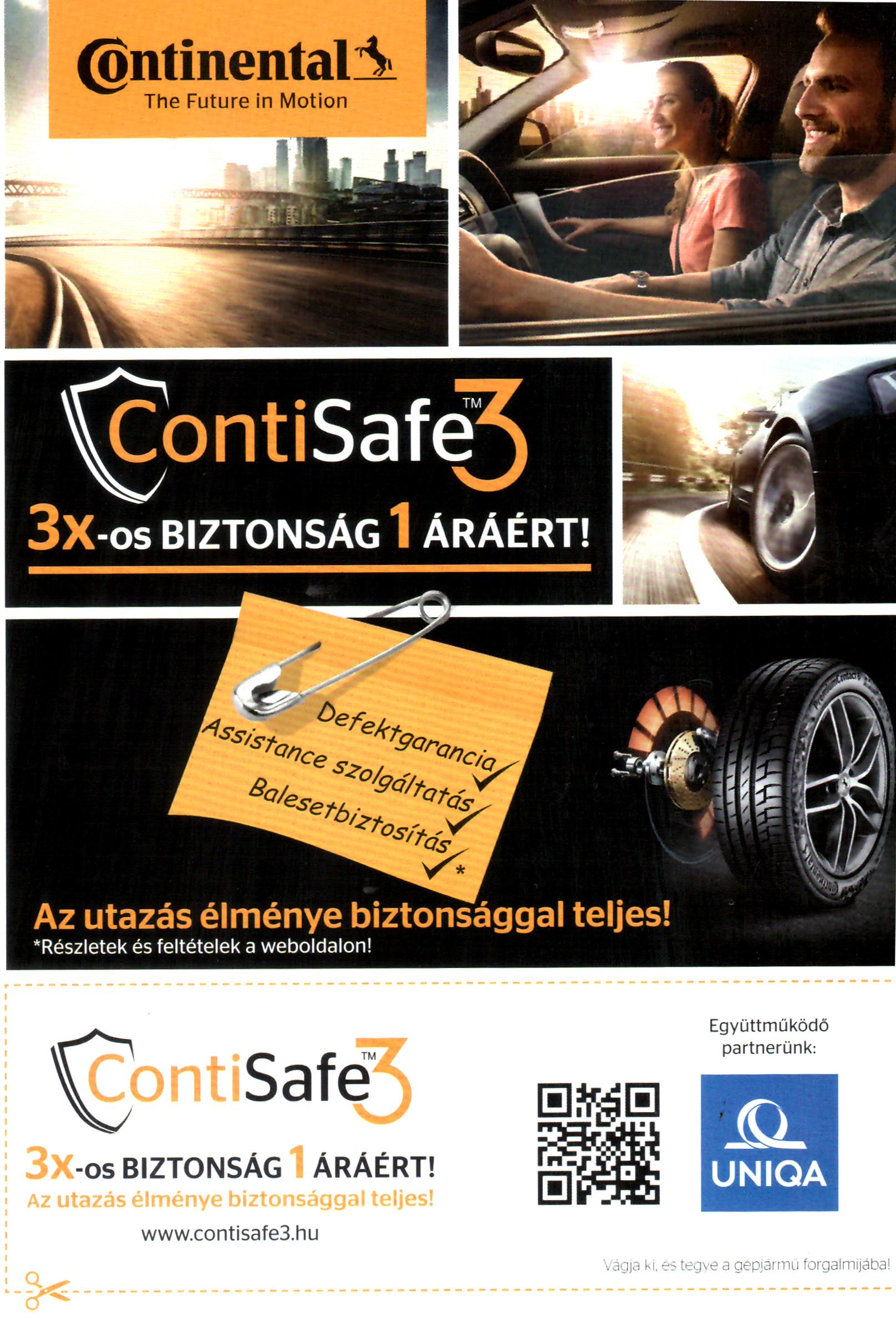ContiSafe3 szórólap 1. oldal